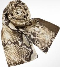 snake skin pattern silk scarf by Cavalli