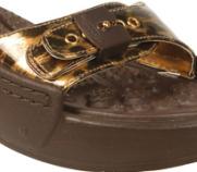 Dr Scholl's Gold Leopard Patent Sandals