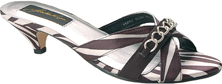 Women's sandal shoes in zebra animal print