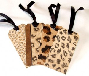 gift tags in animal prints