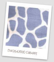 blue giraffe print linen fabric
