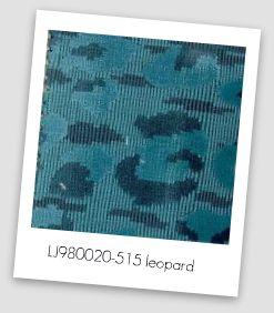 blue leopard print chenille fabric