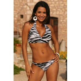 Zebra Print Safari Bikini Swimsuit by UjENA