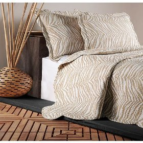 Zebra Animal Print Ivory Bedding