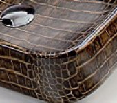 snake skin print washbasin