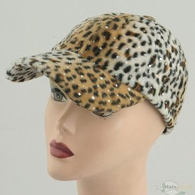 Leopard Sequin Cap – White Tan