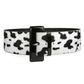 High Waist Ladies Cow Print Animal Fur Belt