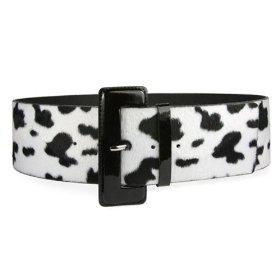 High Waist Ladies Cow Print Animal Fur Belt