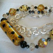 handmade beads bracelet in leopard