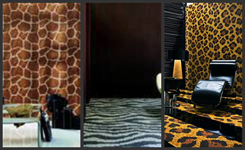 Italian mosaic tiles in animal print patterns