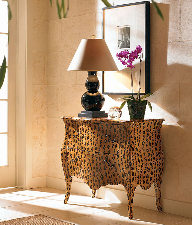 Century Leopard print chest by Oscar De Renta