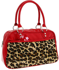 Lux De Ville Leopard Print With Red Trim Tote Bag