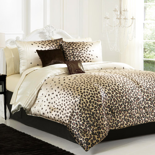 leopard bedding. Black Bedroom Furniture Sets. Home Design Ideas