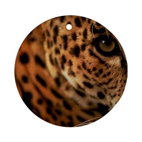 leopard porcelain Christmas ornament