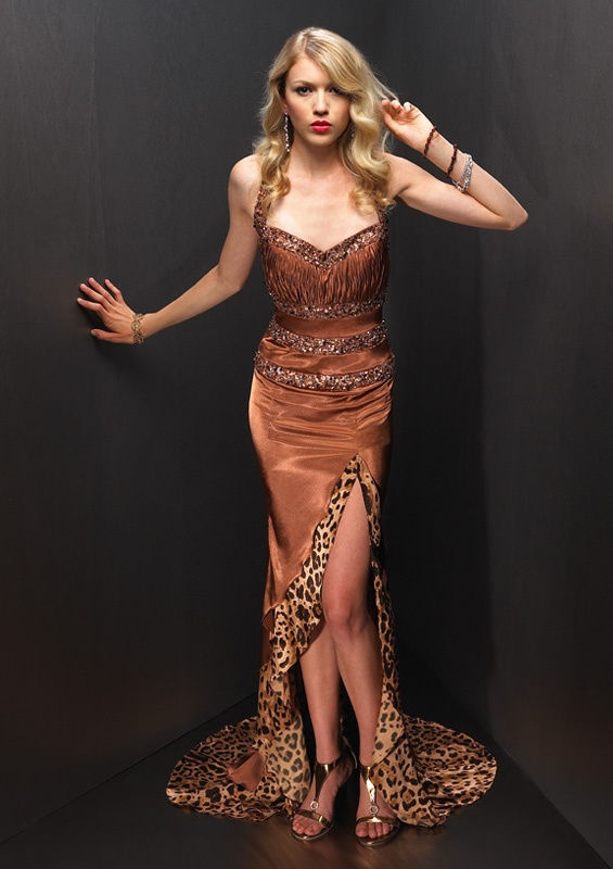 animal print evening dress