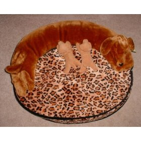 Herbal Dog Bed Leopard Print With Dog Toys