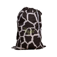 Personalized Laundry Bag in Chocolate Giraffe Print