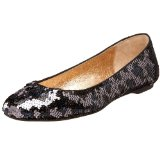 ALL BLACK Women's Multi- Sequin Animal Print Flat Shoes
