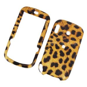 Palm Treo Pro 850 Rubberized Snap On Leather Paint Cover Leopard