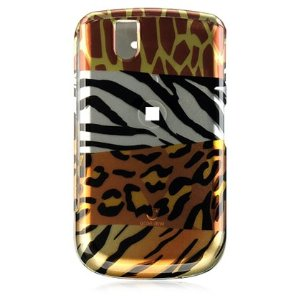 Crystal Hard Mixed Animal Print Cover Case for RIM BlackBerry