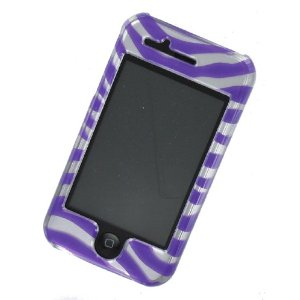 Apple iPhone case cover Purple Zebra Print