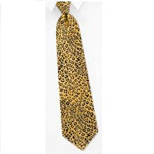 Cheetah Print Extra Long Tie by Wild Ties – Orange Silk