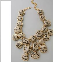 Kenneth Jay Lane Snake Print Drop Necklace