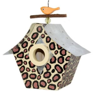 Rosso's International Leopard Print Birdhouse