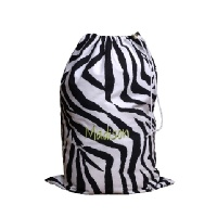Personalized Laundry Bag in Black Zebra Print