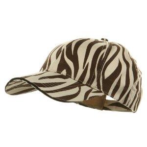 zebra print cap