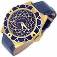 Capitol – 18K Gold & Blue Crocodile Leather Men's Watch