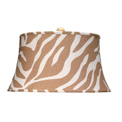 Jamie Young Lighting Lamp Shade Natural Zebra Wide Hourglass