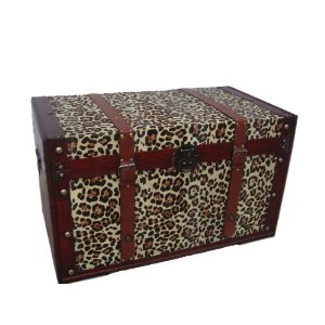 Phat Tommy Animal Print Decorative Trunk – Leopard