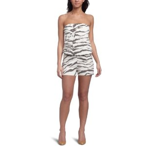 Three Dots Women's Tiger Print White Jumpsuit