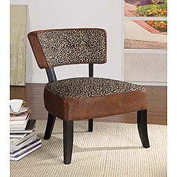 Wrangler/ Leopard Print Club Chair