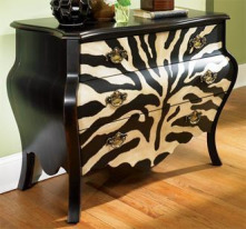 Hidden Treasures Zebra Three Drawer Chest