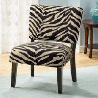 Zebra Print Gino Armless Chair