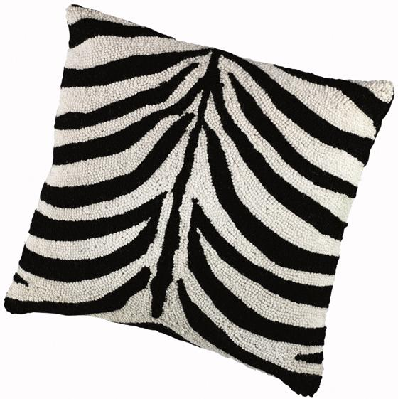 Hooked Zebra Animal Print Throw Pillow