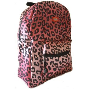 Dickies Backpack White and Pink Cheetah