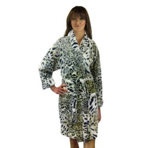 Leopard Jacquard Microterry Bathrobe