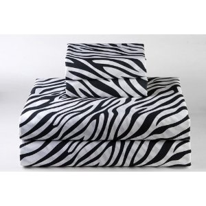 Zebra Sheet Sets – Black/ White
