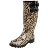 Chooka Women's Cheetah Dual Buckle Rain Boot