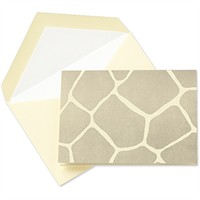 Crane & Co. Giraffe Letterpress Note Cards – 10 Cards & Envelopes