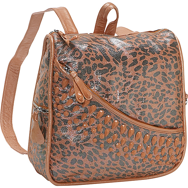 Dan W Jeweled Leopard Back Pack Coral – Handbag