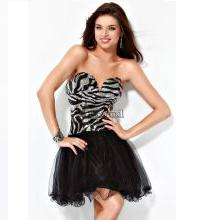 Jovani Zebra Homecoming Dress