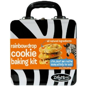 Zebra Mix Rainbow Cookie Baking Activity Kit in a Treasure Tin