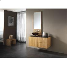 Zebra Wood 40″ Vanity with Granite and Mirror