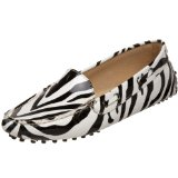 Amiana Women's Slip-On Zebra Print Loafer Shoes