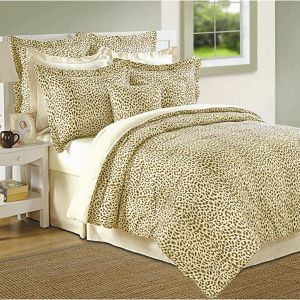 Meenakshi Mills 100% Cotton 8 Piece Cheetah Comforter Set