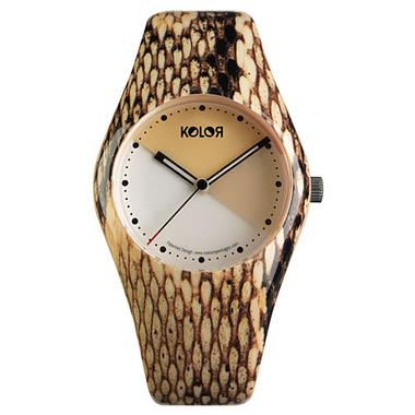 Noon KOLOR Watch Snake Skin Print